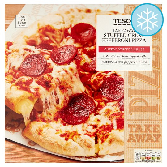 Calories In Tesco Takeaway Stuffed Crust Pepperoni Pizza