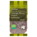 Calories in Waitrose Plump & Juicy Orange River Choice Sultanas