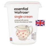 Calories in Essential Waitrose Single Cream