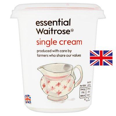 拏 Calories in Essential Waitrose Single Cream