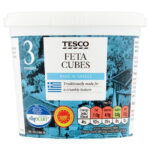Calories in Tesco Feta Cubes Made in Greece
