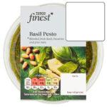 Calories in Tesco Finest Basil Pesto