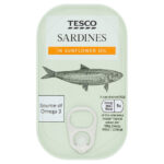 Calories in Tesco Sardines in Sunflower Oil