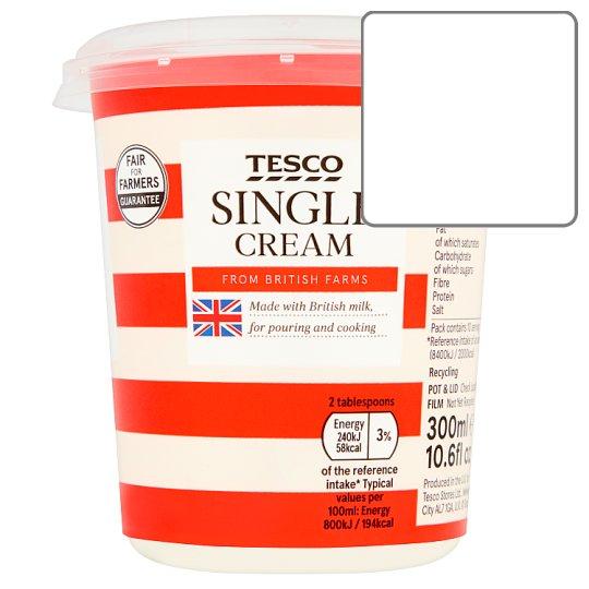 拏 Calories in Tesco Single Cream From British Farms