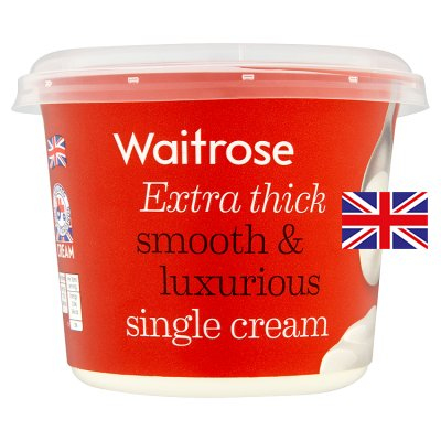 拏 Calories in Waitrose Extra Thick Smooth & Luxurious