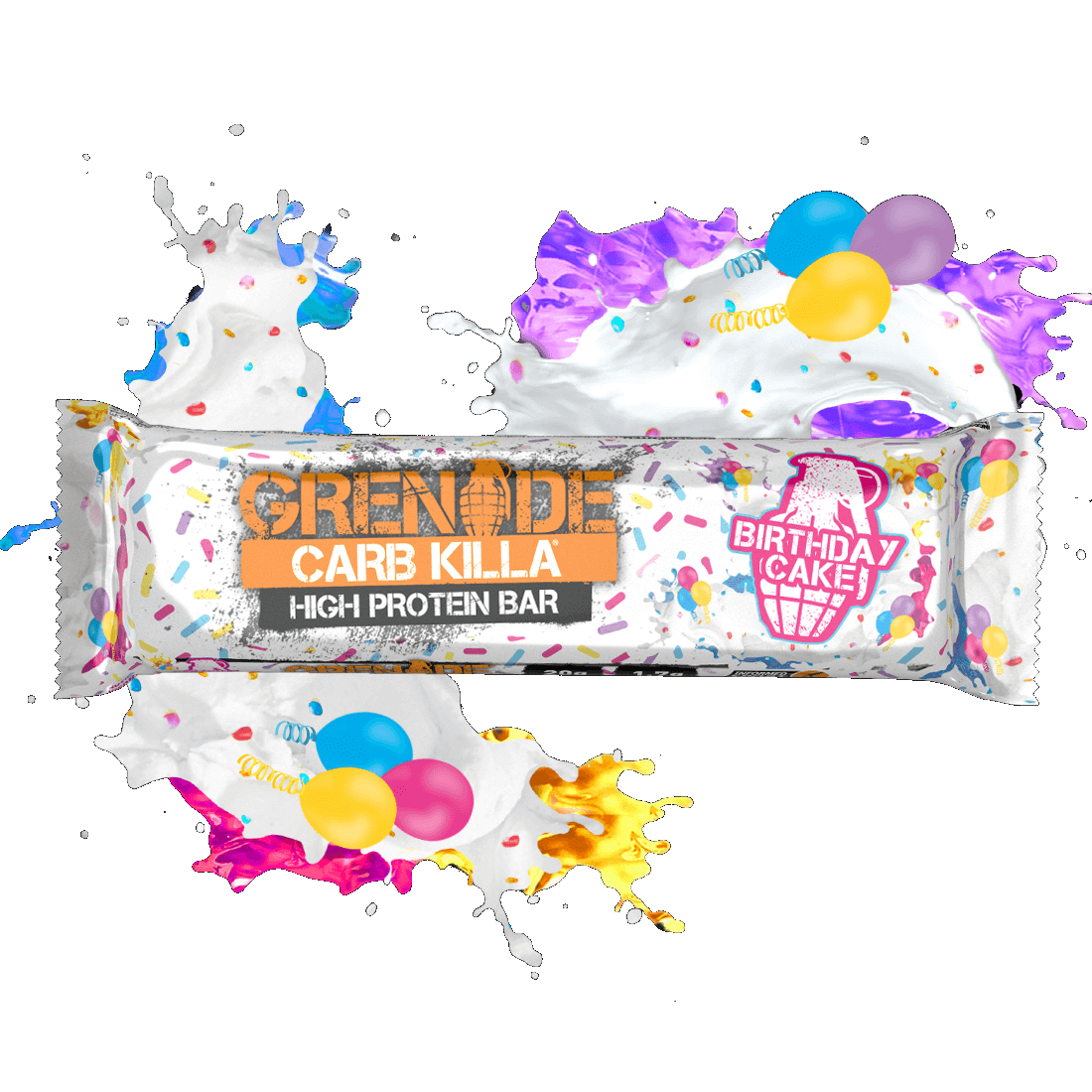 Enjoyable Calories In Grenade Carb Killa High Protein Bar Birthday Cake Personalised Birthday Cards Paralily Jamesorg
