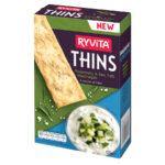 Calories in Ryvita Thins Rosemary & Sea Salt Flatbreads