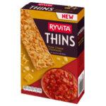 Calories in Ryvita Thins Three Cheese Flatbreads